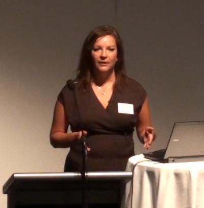Anne V. Kristensen, næstformand i Danske Regioners Sundhedsudvalg taler ved DSKT årsmøde 2010